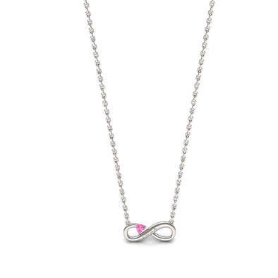 The Infinity Pink Heart Necklace