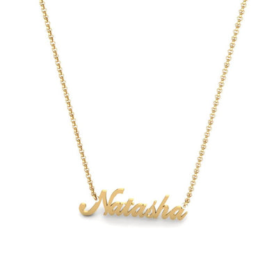 Name Necklace with gold plating
