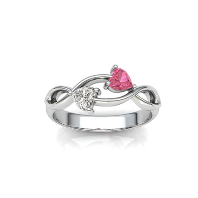 The Royal Romance Double Heart ring