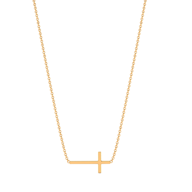Stephanie Cross Necklace Gold Plated