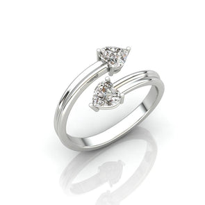 Swap Solitaire Heart Ring