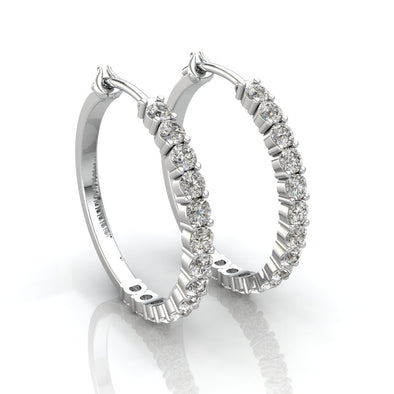 The Carlotta Half Hoop Zircon Earrings