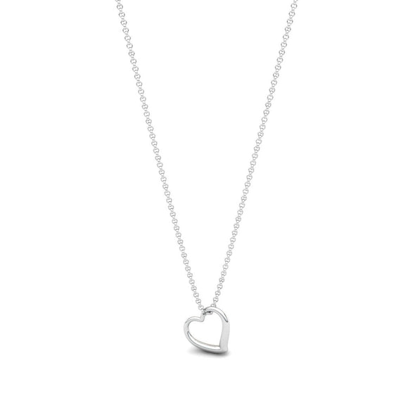 The Celia Hanging Heart pendant Silver