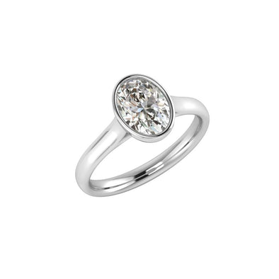 Claudia Oval Zircon Ring Silver