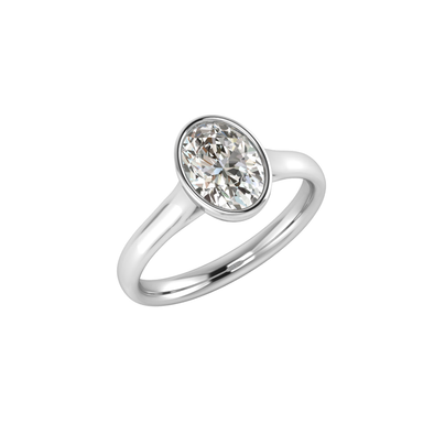 The Claudia Oval Zircon Ring Silver