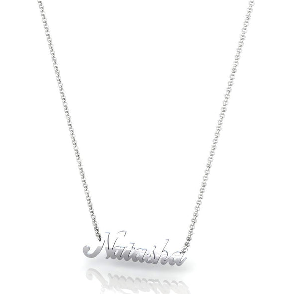 The Customizable Name Necklace Silver