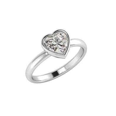 Daria Heart Zircon Ring Silver