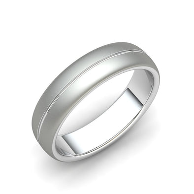 The Dylan Matt Finish Ring Silver