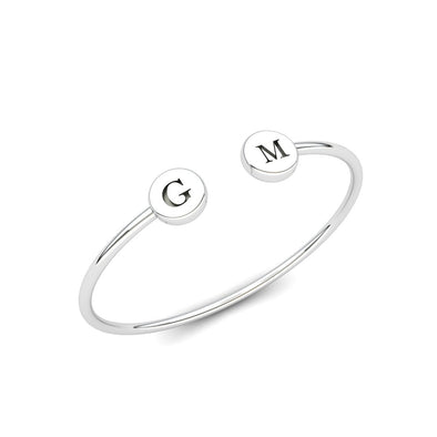 Engravable Initials Bangle