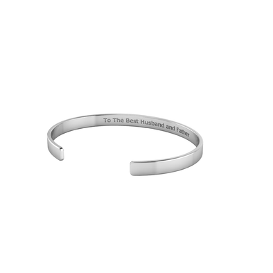 Engraveable Flat Open Bangle