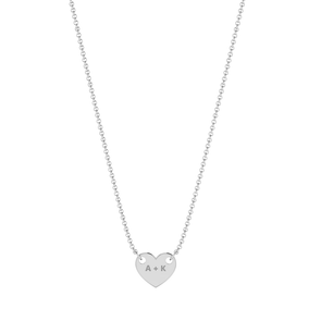 The Engraveable Heart Shaped Coin Necklace