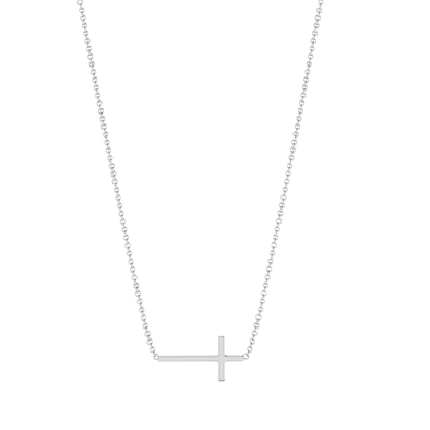 The Eva Sideways Cross Necklace