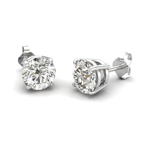 The Gloria Zircon Round Stone Stud Silver