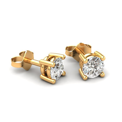 The Gloria Zircon Stud 22KT Gold