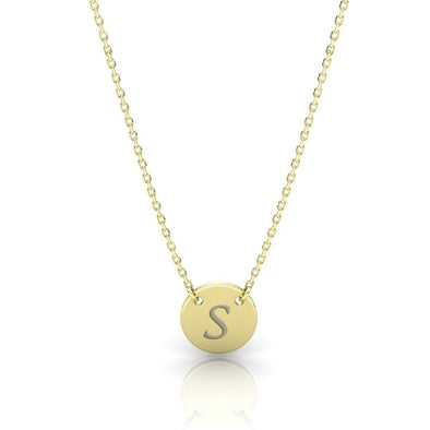 The Initial Coin Necklace Gold Plated