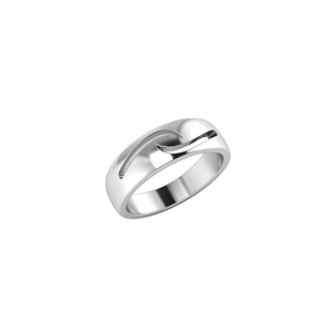 Lewis Ring with Engraved Waves