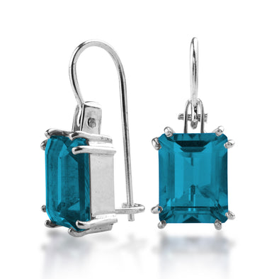 The Lucrezia Baguette Drops Blue Topaz