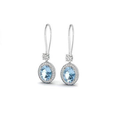 The Luisa Blue Topaz Cluster Earrings