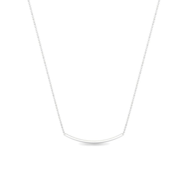 The Maja Curve Bar Necklace Silver