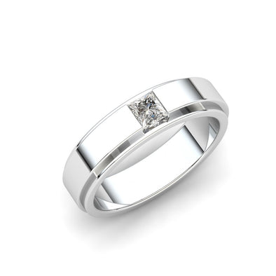 Ryan Square Zircon Solitaire Ring