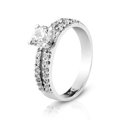 Scarlett Double Row Zircon Cocktail Ring