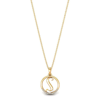 Zircon Initial Necklace