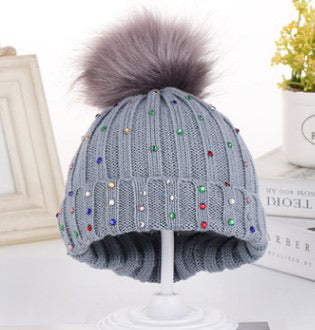 Multi colored Rhinestone Beanie