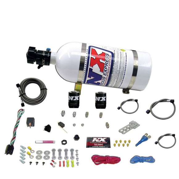 Nitrous Express All Ford EFI Single Nozzle Nitrous Kit (35-150HP) w/10lb Bottle