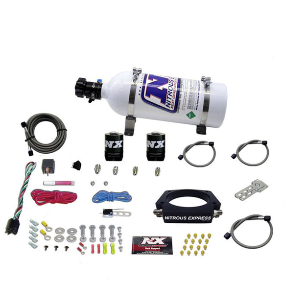 Nitrous Express GM LS 90mm Nitrous Plate Kit (50-400HP) w/5lb Bottle