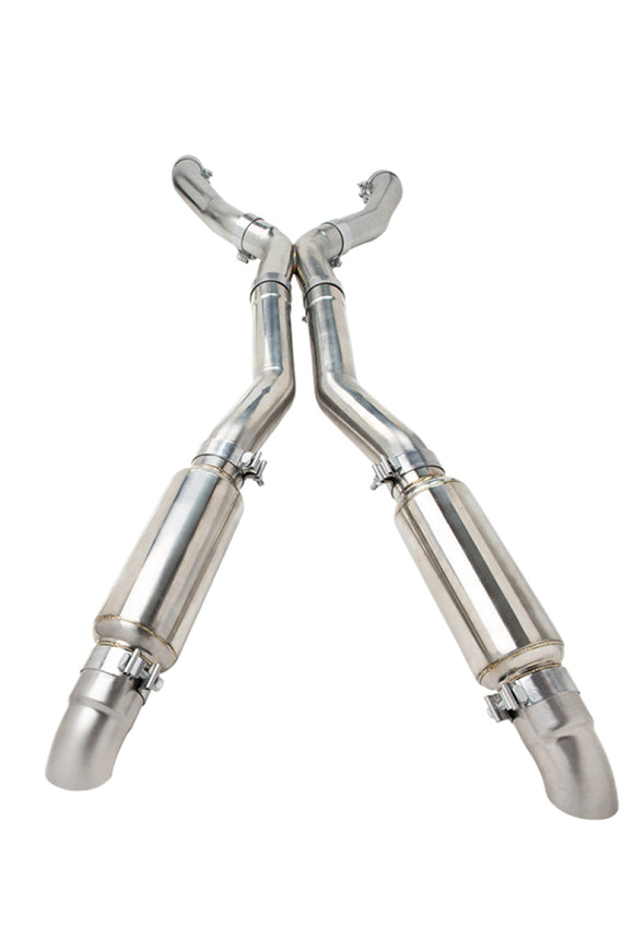 Kooks 79-93 Ford Mustang 5.0L 4V Coyote 3in x 3in 16GA Stainless Steel Race Exhaust