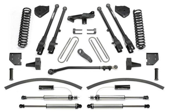 Fabtech 17-20 Ford F250/350 4WD Diesel 8in 4 Link System w/DL 2.25 Resi Shocks & Rear DL Shocks
