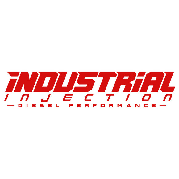 Industrial Injection 20in Logo Decal - Red