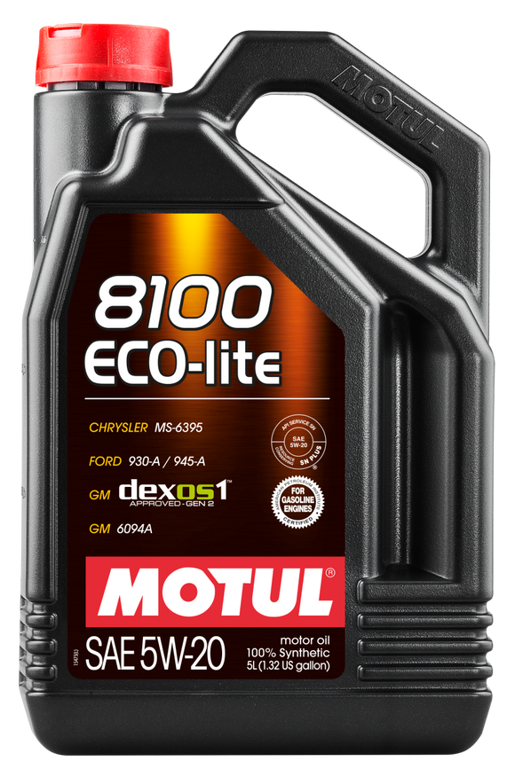Motul 5L Synthetic Engine Oil 8100 5W20 ECO-LITE