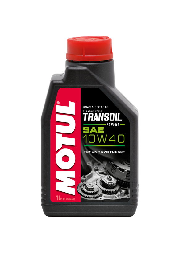Motul 1L Powersport TRANSOIL Expert SAE 10W40 Technosynthese Fluid for Gearboxes (Wet Clutch)