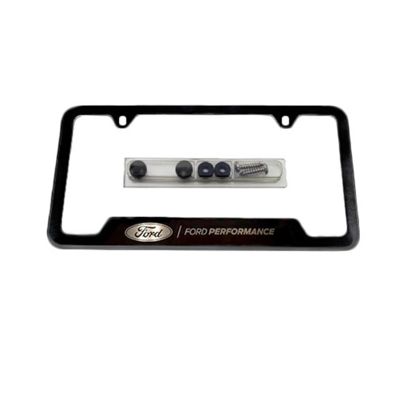 Ford Racing Stainless Steel Ford Performance License Plate Frame - Black