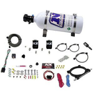 Nitrous Express 11-15 Ford Mustang GT 5.0L High Output Nitrous Plate Kit (50-250HP) w/5lb Bottle