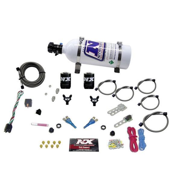 Nitrous Express GM EFI Dual Nozzle Nitrous Kit (100-300HP) w/5lb Bottle