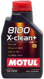 Motul 1L Synthetic Engine Oil 8100 5W30 X-CLEAN - LL04- MB 229.51- 504.00-507.00