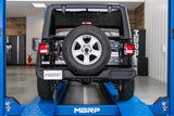 MBRP 18-20 Jeep Wrangler JL 2.5in Single Rear Exit Cat Back Exhaust - T304