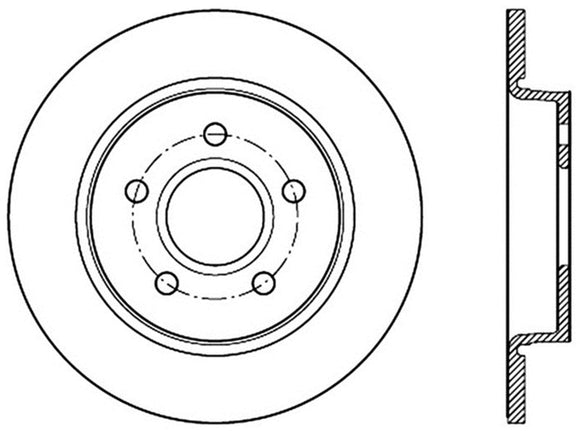 StopTech 12-15 Ford Focus w/ Rear Disc Brakes Rear Left Slotted & Drilled Rotor