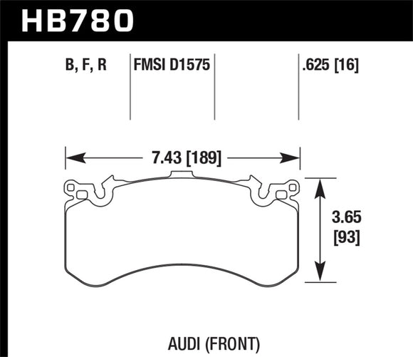 Hawk 2016 Audi A8 Front High Performance Brake Pads