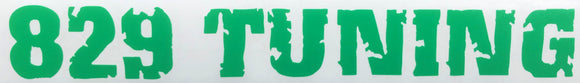 829 Tuning Decal - Green