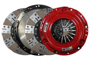 McLeod RXT Twin Disc Clutch Kit 18-19 Ford Mustang GT 1 x 23 Spline 0 Bal w/164T 8 Bolt AL Flywheel