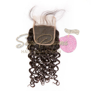 #RawGirl Curly Lace Closure