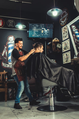 Barber Cutting Hair