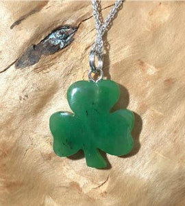 3 Leaf Clover Nephrite Jade Charm with Optional Necklace Canadian Jade Charm Only