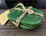 Nephrite Jade Coasters - Set of 4