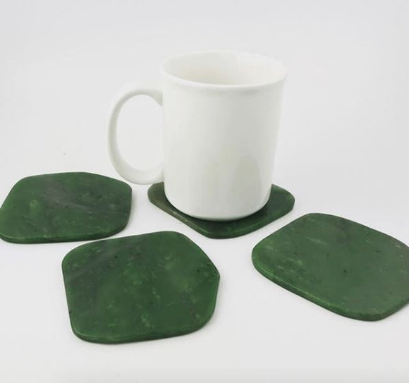 Canadian Nephrite Jade Coasters - Set of 4