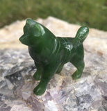 Canadian Jade Carving Husky Dog Sculpture