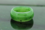 Genuine Nephrite Jade Wide Band Ring